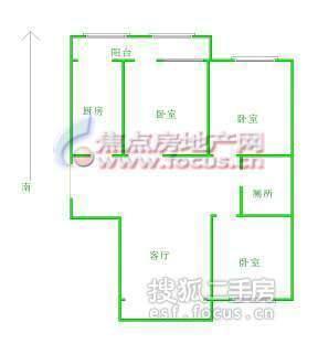 科园云居公寓-户型图2
