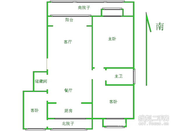 万科花园新城-户型图4