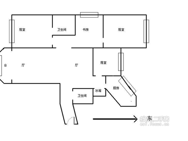 环渤海国际公寓-户型图3