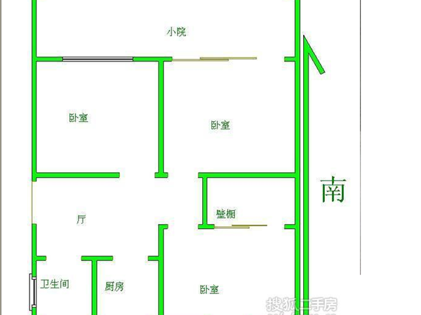 环渤海国际公寓-户型图4