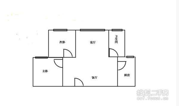 银丰花园-户型图3