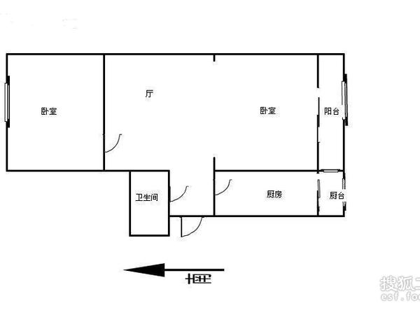 跃进里小区-户型图2