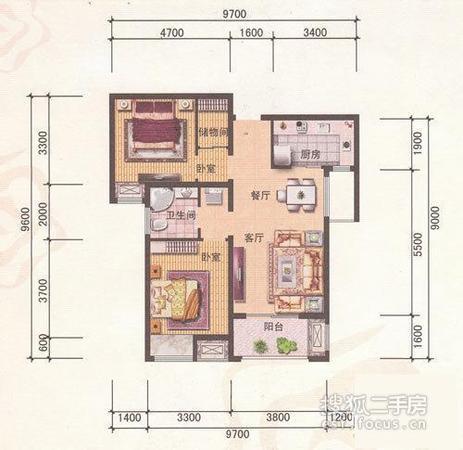 保利玫瑰湾-户型图2