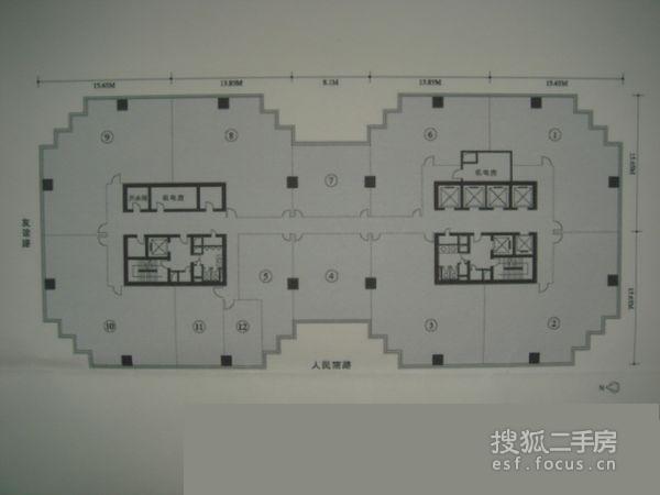 嘉利中心写字楼-户型图3