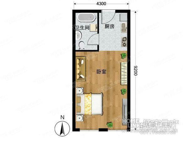 远见国际公寓50平米房子首次出租