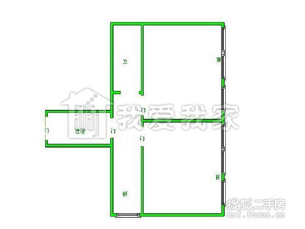 虹口区 凉城 水电路1013弄小区 中等装修 59平米2室1厅厅1卫卫