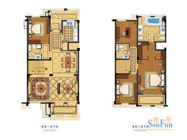 精装修花园洋房, 一楼复2楼 ,带60平米花园,70平