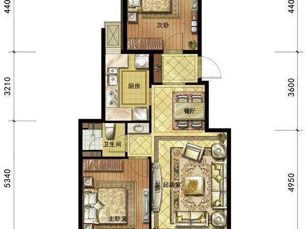 四室两厅户型图平面图