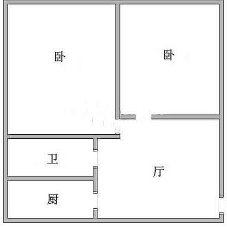 虹口区 凉城 奎照路790弄小区 中等装修 76平米2室1厅厅1卫卫