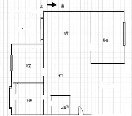 89平米 2室2厅  85万 婚房装修标准户型方正无税房.