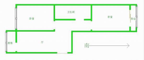 天津汽车城后身 利海家园 经典两室 南北通透 紧邻湿地公园
