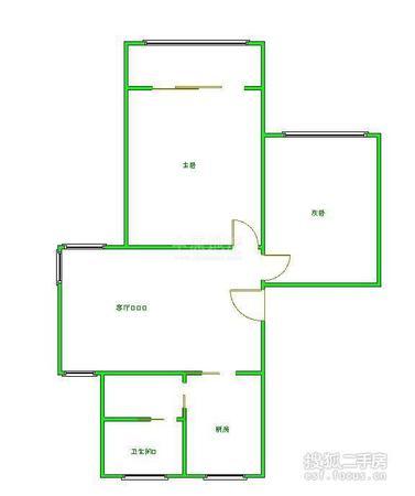 虹口区 凉城 水电路1013弄小区 中等装修 81平米2室1厅厅1卫卫