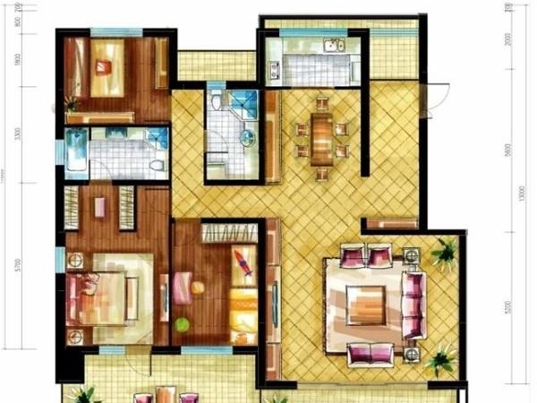 顺义区 中央别墅区 泰禾·北京院子小区 豪华装修 165平米4室2厅厅2卫