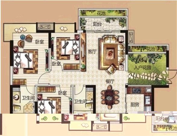 81平方米房设计图