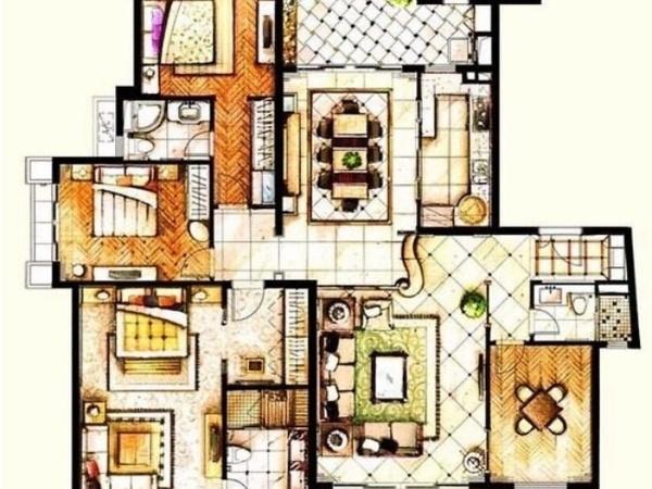 小型单层别墅平面图