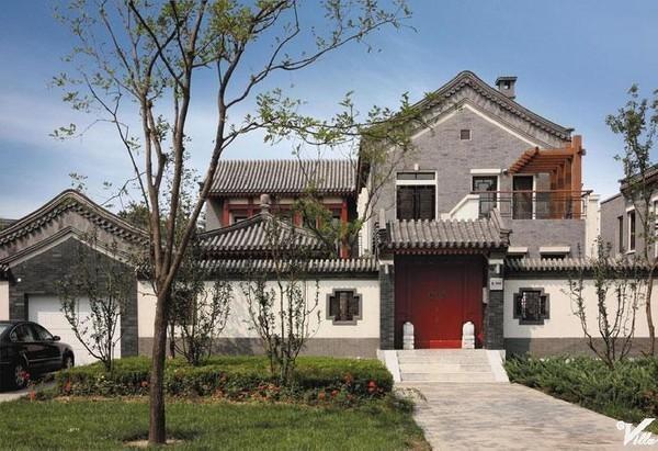 中式别墅中央别墅区稀缺的四合院型别墅 纯中式风格 高绿化