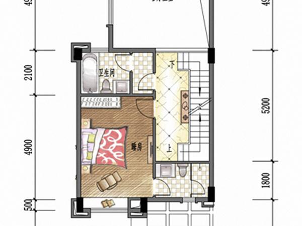 农村六间房平面图设计