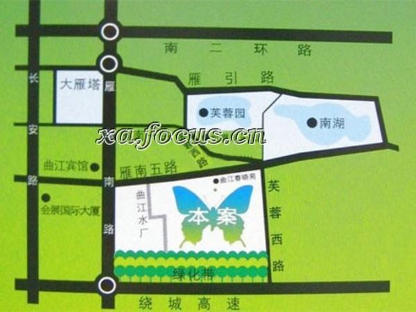 曲江城市花园商铺-外观图3