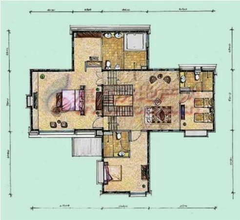 龙湾别墅 最好户和院 五个房间朝南