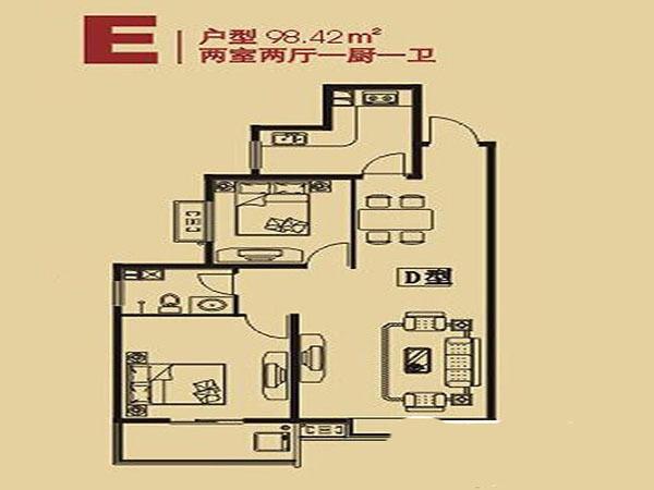 长丰园-户型图2