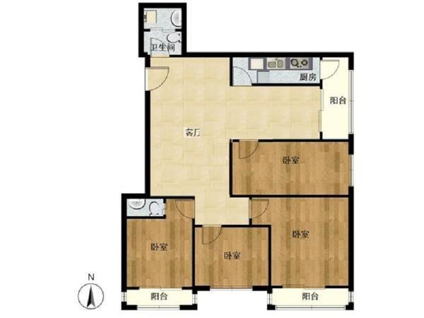 东南向四室一厅 稀缺楼王户型