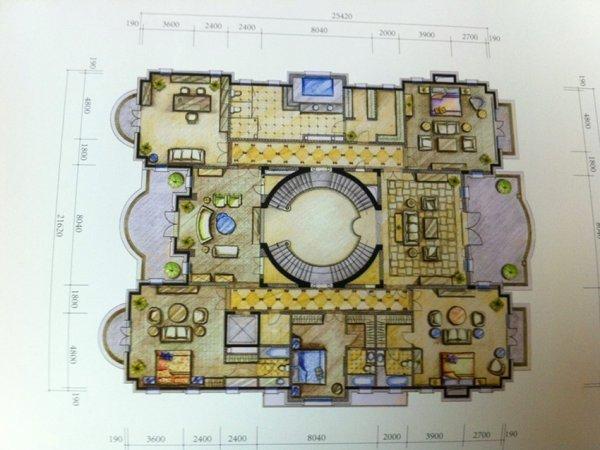 华堂高尔夫别墅豪华装修,心血和技术的结合,温馨居家缔造
