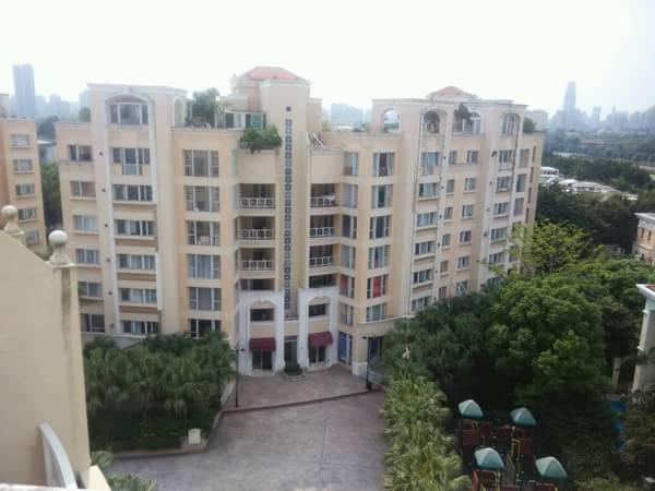 二沙岛金亚花园四房带200方天台花园出售 总共两套顶楼单位