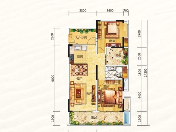海棠福湾一号-户型图4