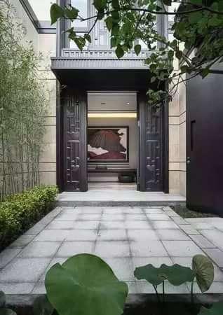 新中式府院别墅-室外图-23315