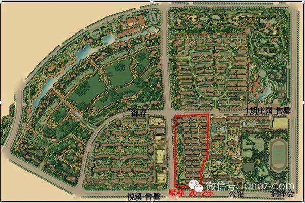 宣化万柳公园手绘平面图