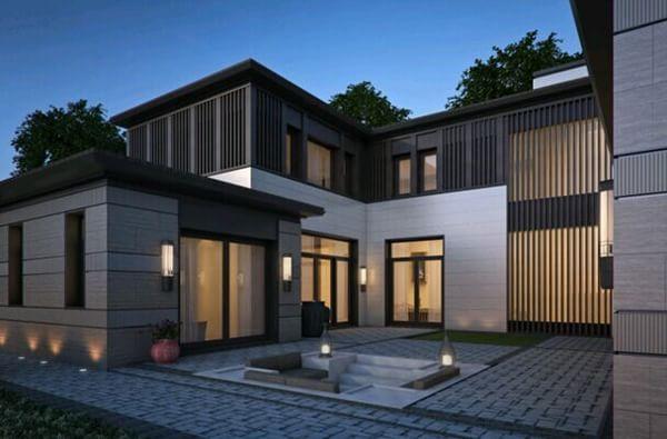 风格+局部一层设计+临湖+观塘别墅-室外图-234518582