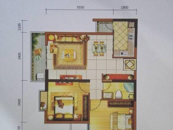 西城时代现铺带返租 有产权 8年回本 能做餐饮-室内图-6