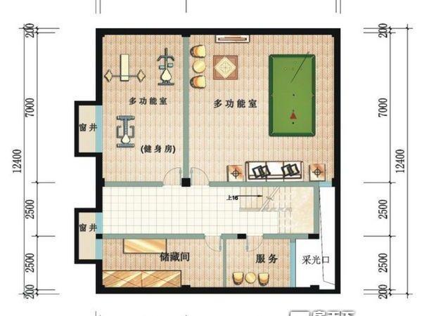 鲁能三亚湾美丽三区别墅-户型图6