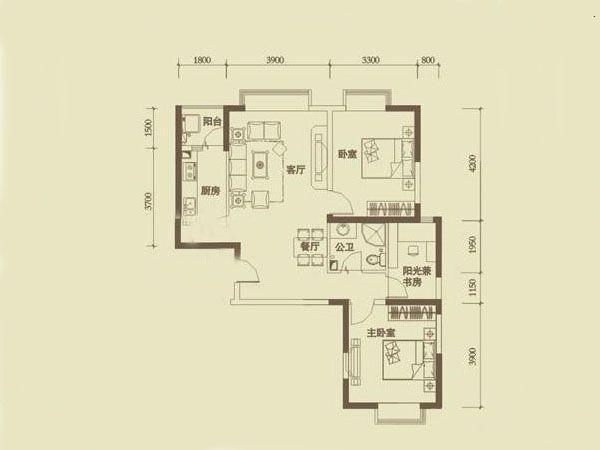 绿城浪琴湾-户型图2