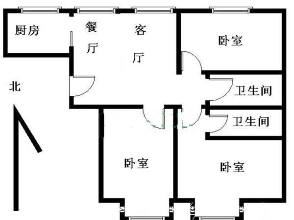 长阳国际城豪华新装三居室 改善户型 带产权车位 送全新家具家