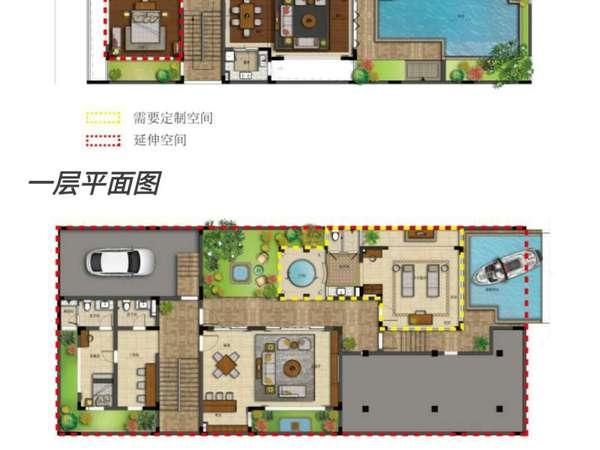 申亚亚龙湾壹号 中式四合院独栋大别墅 独立阳光房 空中泳池-室内图-9