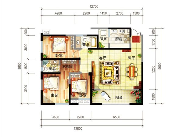 尚源郦城 首付12万户型好 明厨明卫位置好-室内图-5