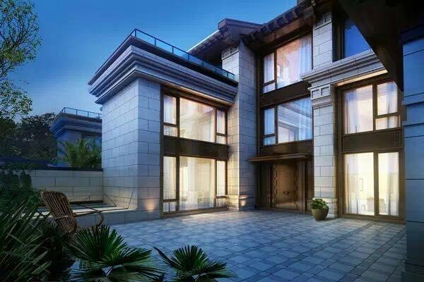 鲁能地产,王者归来,新中式景观独栋别墅