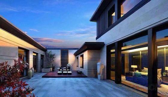 中央别墅区 独栋别墅 新中式风格 合院设计