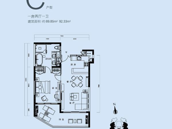 中信泰富神州半岛-户型图2