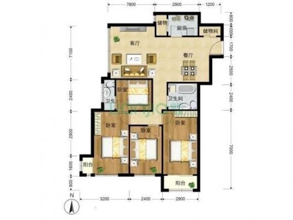 一百五十平房子平面图