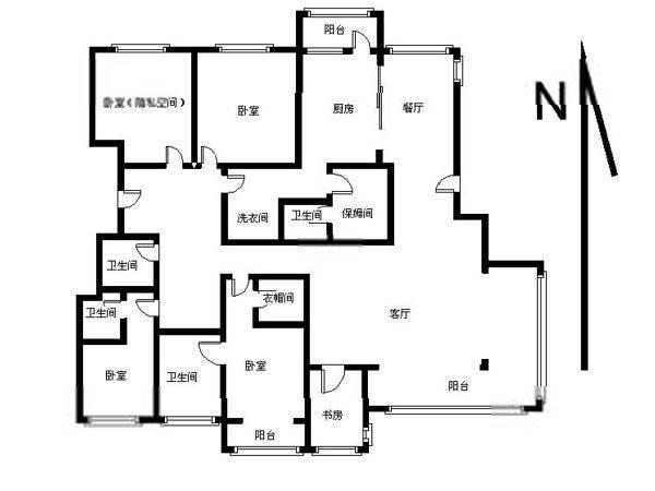 [我爱我家 相约米兰] 朝阳区 泛海国际 经典大四居户型,双主卧设计