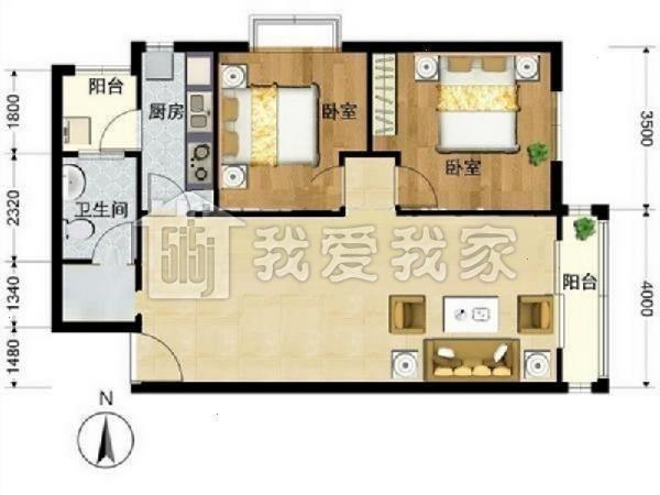 [我爱我家 相约米兰] 阿曼精装两居,价值洼地,户型方正,免税地铁房30