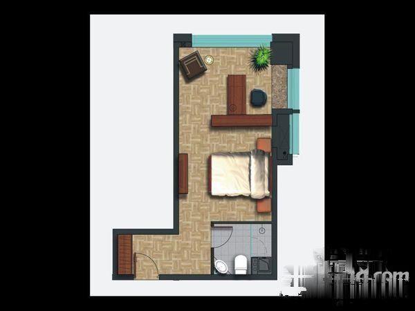 核心地段万金国际广场商住两用SOHO-室内图-6