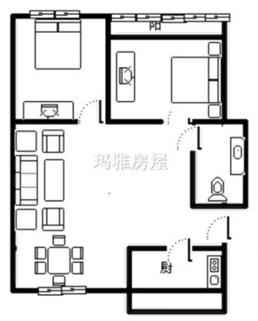 新房丰禾路 蔚蓝花城  黄金2楼 55万可议 看房方便 39-室内图-8