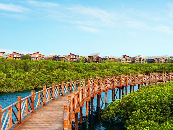 澄迈富力红树湾,精装小洋房享内外双海景观,2200亩湿地公园-室外图-363113372