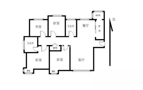 嘉俊花园 装四室 电梯六楼 通透户型 景观 环境-室内图-11