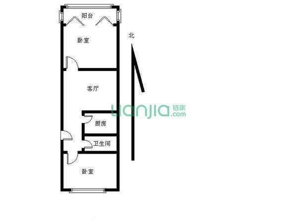 新出房源 南北通透两室户型 采光没遮挡-室内图-6
