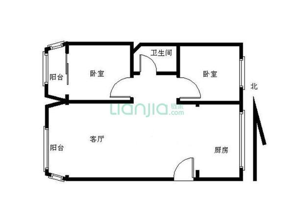 通透精装两室户型 采光好 看房方便-室内图-6